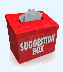 Suggestion & Raffle boxes